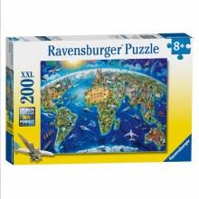 WORLD LANDMARKS MAP XXL 200