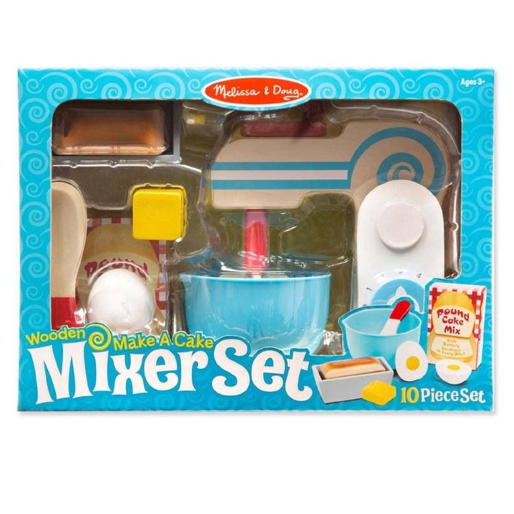 WOODEN CAKE MIXER SET