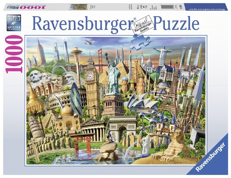WORLD LANDMARKS 1000PC
