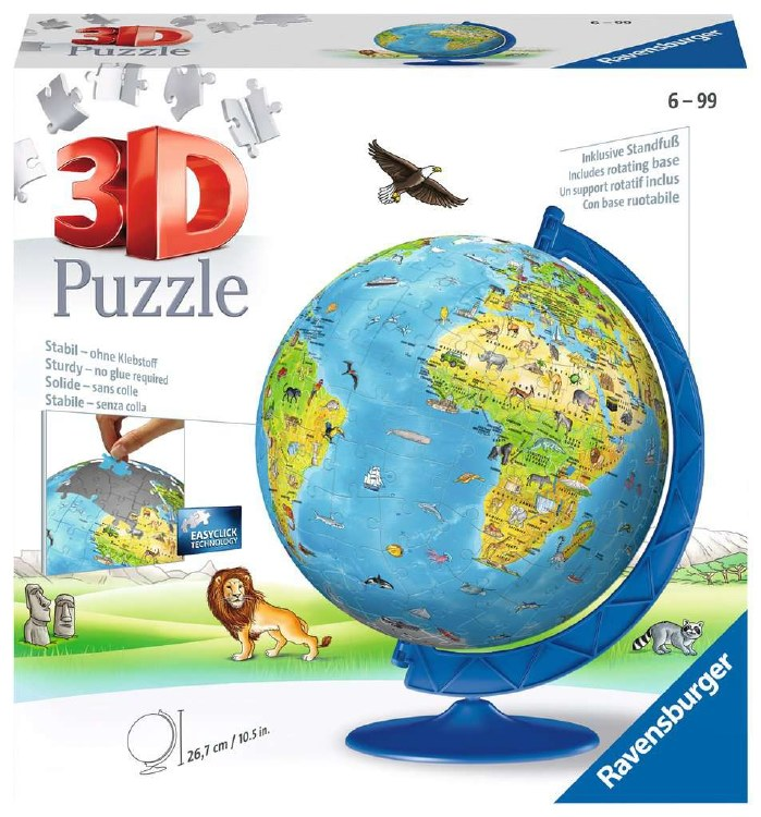 WORLD MAP CHILDRENS 3D PUZZLE