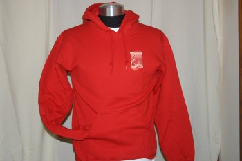 ADULT SHOP HOODY PRINT 2 RED L