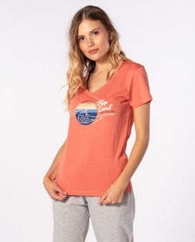 RIP CURL THE WAVE TEE PINK M 12