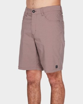 RIP CURL ACCESS TWILL SHORT RED 38