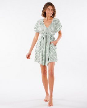 RIP CURL GEO DRESS GREEN XS