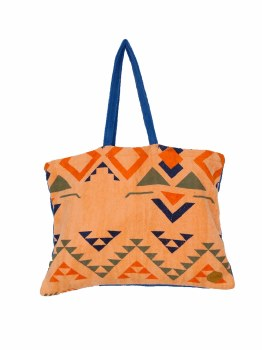 ALL IN BEACH BAG TOTE INDIAN/MARINE
