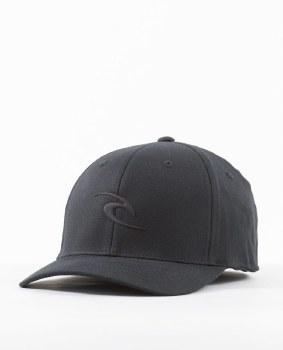 RIP CURL TEPAN WELD FLEXFIT CAP BLACK