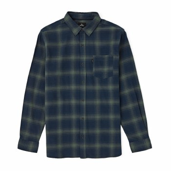 RIP CURL CHECK THIS LS SHIRT NVY/GRN S