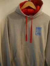 SURF SHOP HOODY P2 ASH/RED L