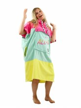 ALL-IN V PONCHO BUMPY 80IES/PINK