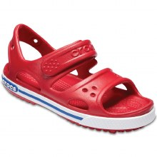 CROCBAND II SANDAL PEPPER/BLUE J3