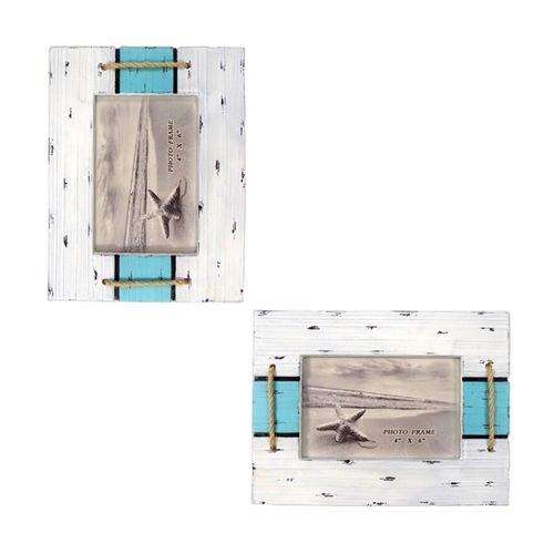 Rope Accent 2 color slat 4X6 picture Frame