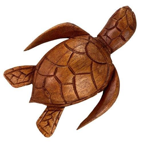 Carved Wood Sea Turtle