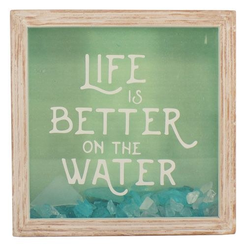 Life is Better/Sea Glass Shadow Box