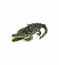 "Metal Alligator Decor 23"""