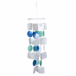 Blue, Green, and White Capiz Chime
