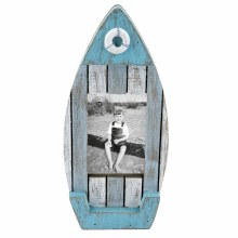 Teal & White 4x6 Boat Frame