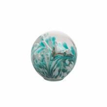 Glass Orb w/Sand/Shells Med