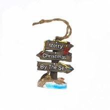 Resin - Merry Christmas by the Sea- Ornament