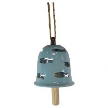 Porcelain Hang Bell with cut out fish design