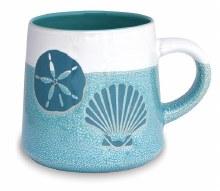Artisan Mug Shell & Sanddollar