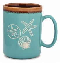 Hand Glazed Shells Mug