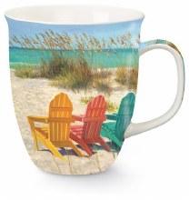 Beach Scene W/Chairs HRBR Mug