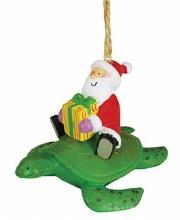 Santa On A Sea Turtle