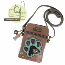 Paw Print Teal - Cell Phone Xbody