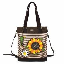 Work Tote - Sunflower - Brown Stripe