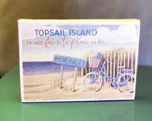 Topsail is our favorite place to be canvas sign