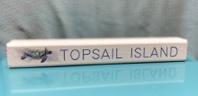 Topsail Island with turtle stick sign