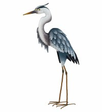 "Metal Blue Heron 26"" Decor"
