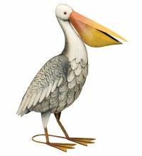 Metal Pelican Decor