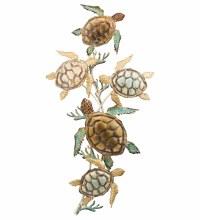 5 Sea Turtle Metal Wall art