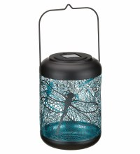 Large Shadow Lantern with Dragonflies cut out