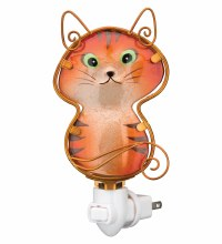 Glass Cat Night Light