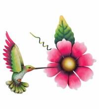 Hummingbird Flower Wall Decor