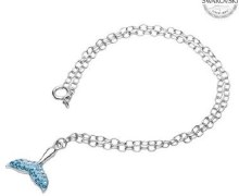 OC166 Whale Tail Crystl Anklet