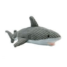 Plush Shark with Crunch & Crinkle Dog Toy