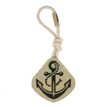 Natural Leather Anchor Dog Toy