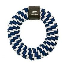 Braided Ring Dog Tug Toy - Navy