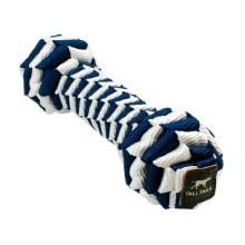 Braided Bone Dog Tug Toy - Navy