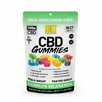 Bolt 1000mg  Gummies 40 Ct