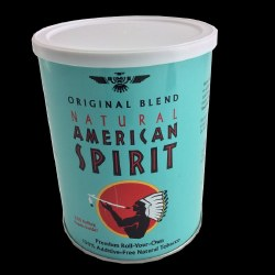 American Spirit Light Blue Can