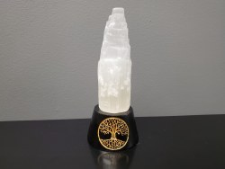 Color Changing Selenite Tower