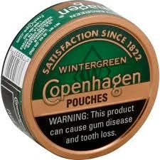 Copenhagen Wintergreen Pouches - Can or Roll