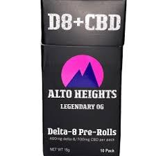 Alto Delta 8 Pre Roll 10 Pack