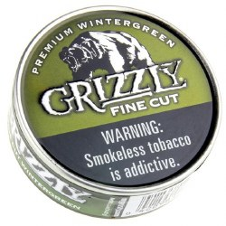Grizzly Fine Cut Wintergreen - Can or Roll