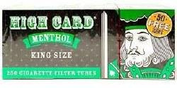 High Card Menthol King Tubes