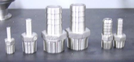 """King Nipple 1/2"""" x 1/2"""" Stainless Steel"""